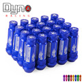 DYNO New Product  auto RYANSTAR  Aluminum alloy wheel lug nuts 20pcs flat  top +  Length 72MM  20pcs  lug nuts 12*1.5