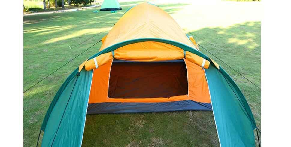 Бесплатная доставка 3-4 человека пляж палатка Пешие прогулки/Кемпинг палатки рыбалка/Открытый Велоспорт Водонепроницаемые палатки