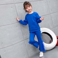 2019 Girls Sport Suit Clothing Set For Girl Autumn Kids Tracksuit Long Sleeve Shirt+pants Children Clothes Sets 3 12 Years