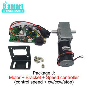 Image 4 - Bringsmart 12V DC Double Shaft Worm Gear Motor High Torque 70kg.cm 24 volt Motor Mini Turbine Worm Reducer Reversible A58SW31ZYS