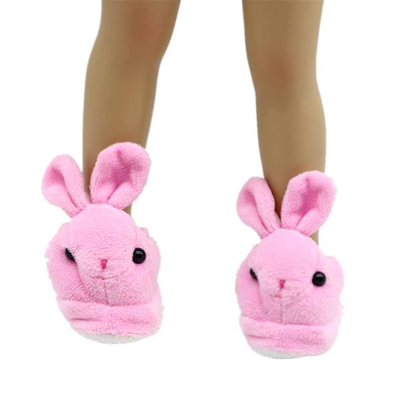2color Factory wholesale Cute Pink Slippers Fit American