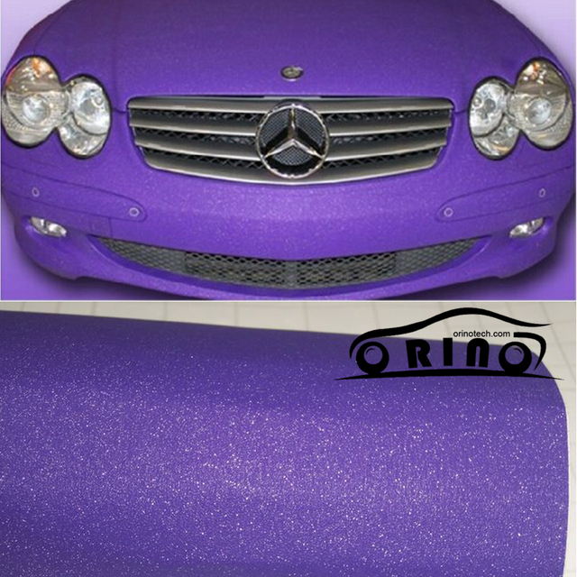 1.52x30m Roll Sandy Glitter Purple Vinyl Wrap With Air Bubble Free Car  wrapping Diamond fc8303888861