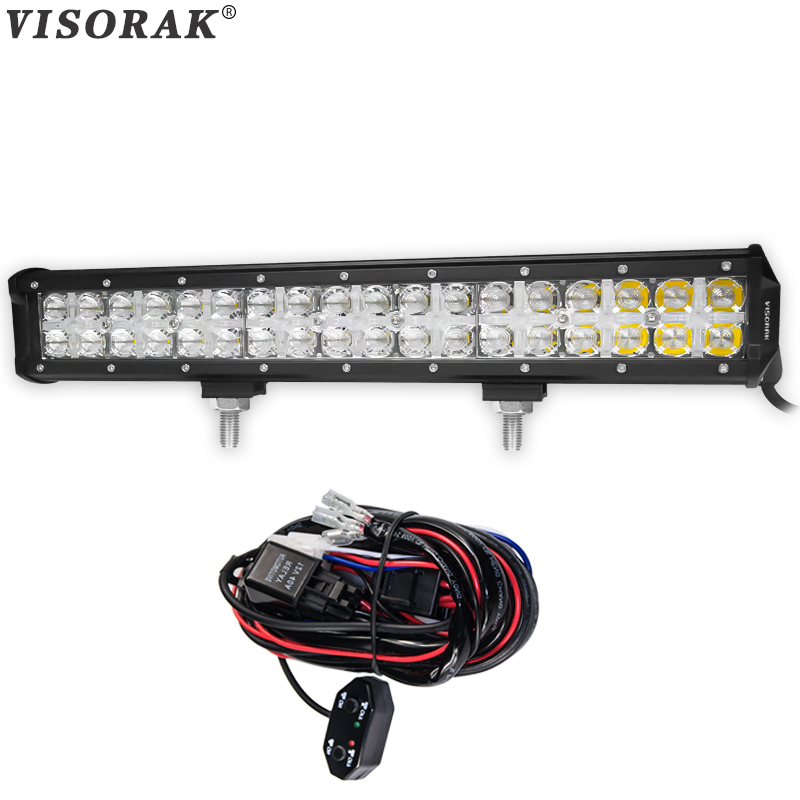VISORAK 7D 17 Inch CREE Chips LED Light Bar 180w Combo Beam Cross DRL LED Bar 4x4 Truck Wagon For Ford Jeep GMC Toyota SUV ATV paomotoring датчик положения дроссельной заслонки на 1996 2006 гг toyota truck suv v6 l4 oem 88970220 1985001060 page 1