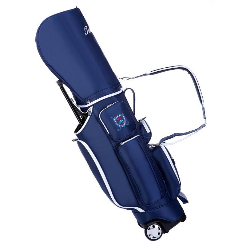 2019 Golf voyage roues Standard Stand Caddy sac complet ensemble de Golf sac en Nylon chariot de Golf sac personnel chariot sacs de Golf D0638