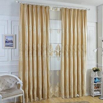crme itali kasjmier laser geborduurde gordijnen woonkamer slaapkamer studie europa cortinas gordijn luxe stof moderne keuken