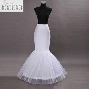 0776cf5a Hot Barato 2017 De La Sirena Enaguas para vestido de novia faldas de tul  faldas largas blancas Enaguas novias Petticoat Underskirt Crinolina