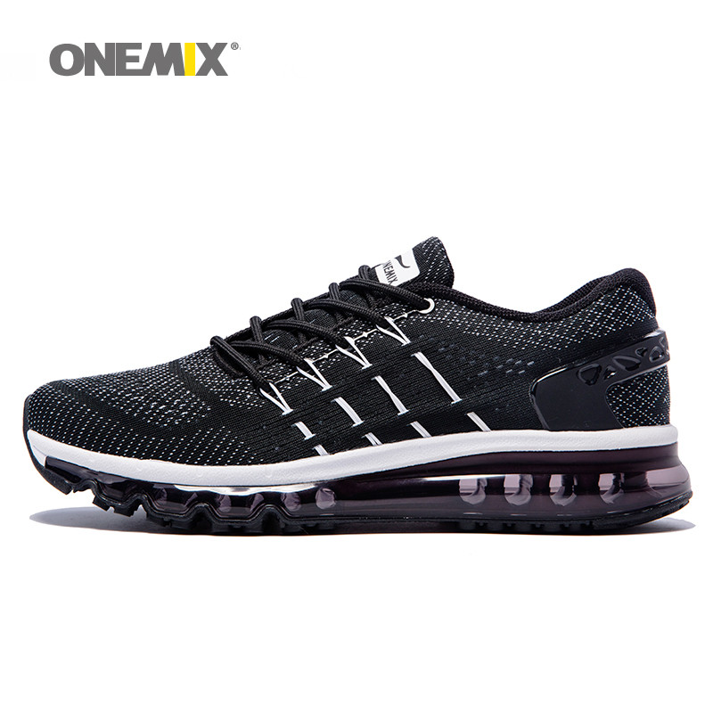 Onemix new men running shoes unique shoe tongue design breathable sport shoes big size 47 outdoor