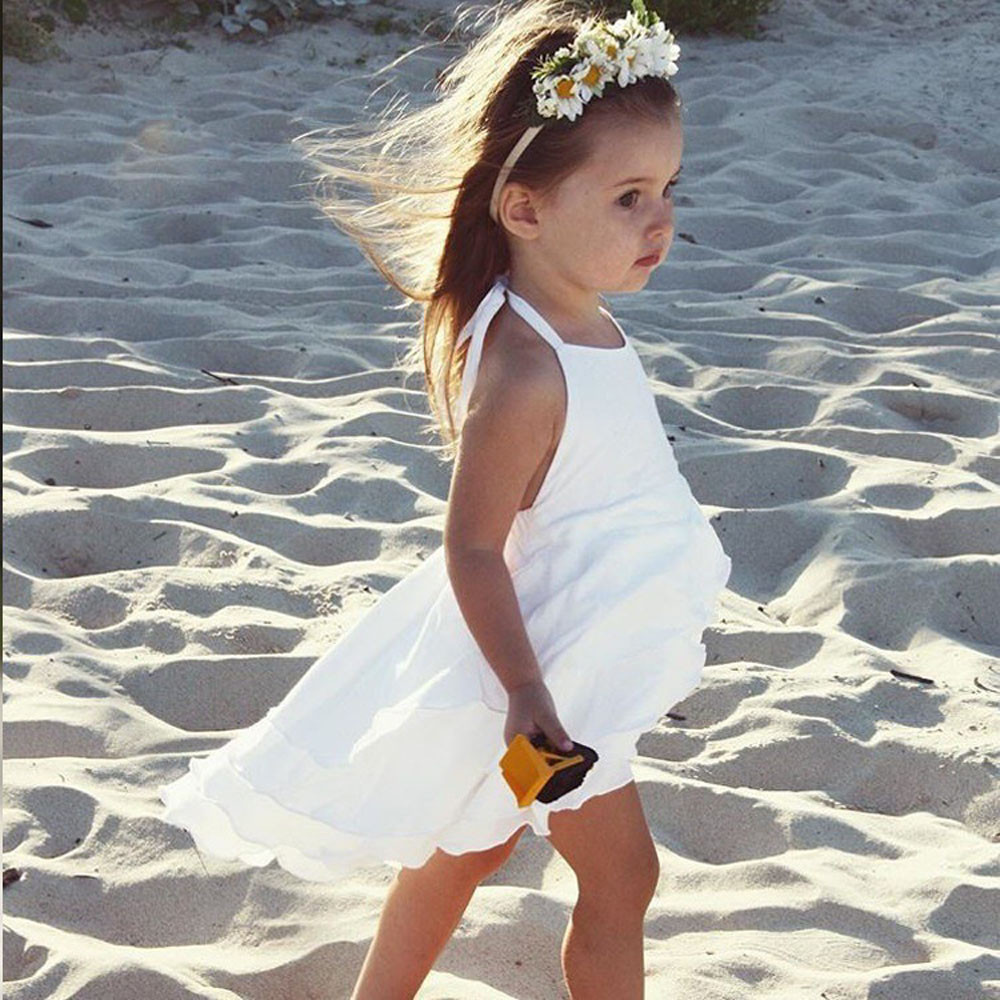 2 Colors Hot Cute Newborn Infant Baby Girl Solid Sleeveless Fold Dress Outfits Clothes High Quality Dropshipping AG30 25