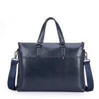 Genuine Leather Handbag Men Classic Briefcases Laptop Bag