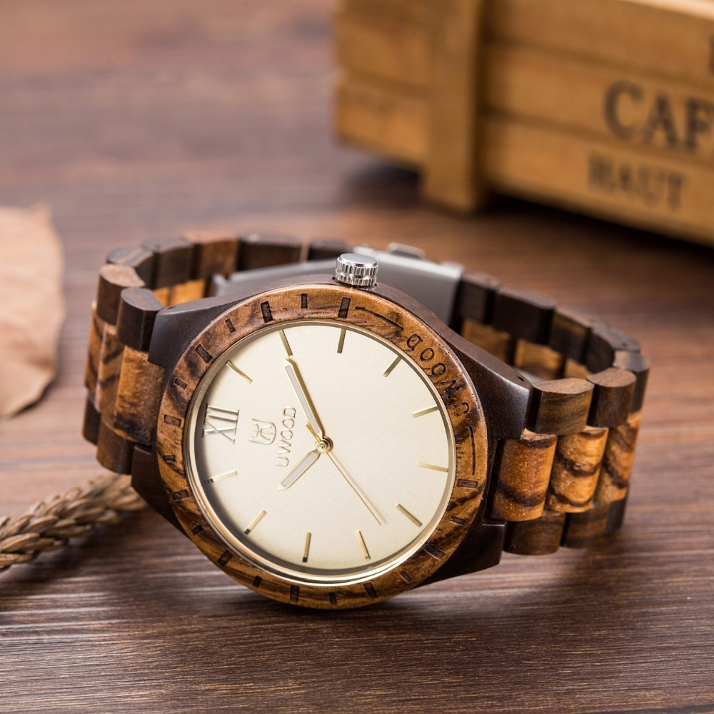 2018 Hot Fashion New Arrival Wood Watches mans Casual Japan Bamboo Wooden Wristwatches Top Band as Creative Gifts for Friends