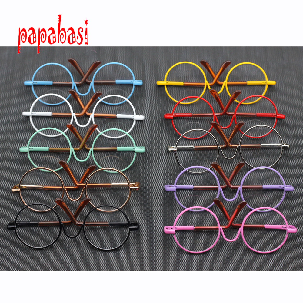 Doll Accessories round shaped Round glasses colorful glasses sunglasses suitable for BJD blythe doll as for