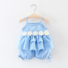 Get more info on the Baby Girls Outfits Toddler Infant Flowers Lace Vest Tops+Shorts Pants Outfits Clothes Set