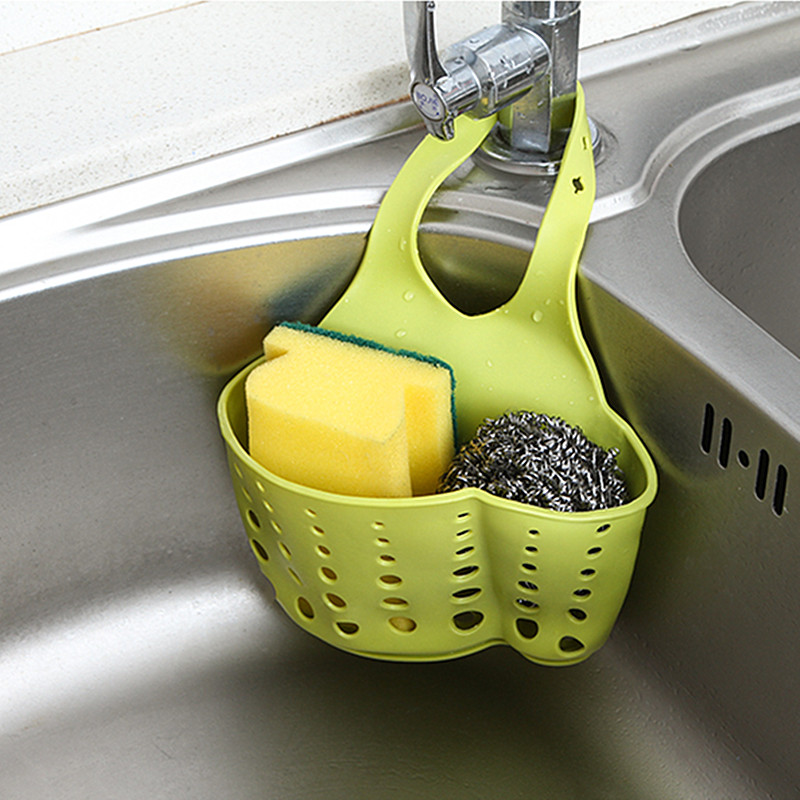 XUNZHE Kitchen Adjusted Sundries Storage Hanging Basket Bathroom Faucet Storage Racks Sponge Dishcloth Soap Organization Holders