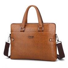 c66080b80e788 JEEP için BULUO Iş Adam Çanta Evrak Çantası moda erkek dizüstü evrak çantası  ile pu deri erkek Omuz çantası crossbody KSL618M