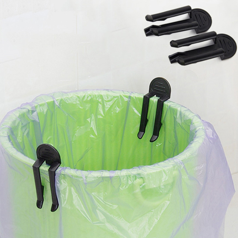 2pcs Practical Trash Can Clips Plastic Fixed Garbage Bag Clip Fixed Waste Bin Bag Holder Rubbish Clam