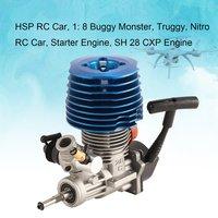 Автомобиль на радиоуправлении 1: 8 багги Монстр Truggy Nitro двигатель SH 28 CXP двигатель M28 P3 4.57CC 3.8hp 33000 об/мин боковой вытяжной стартер