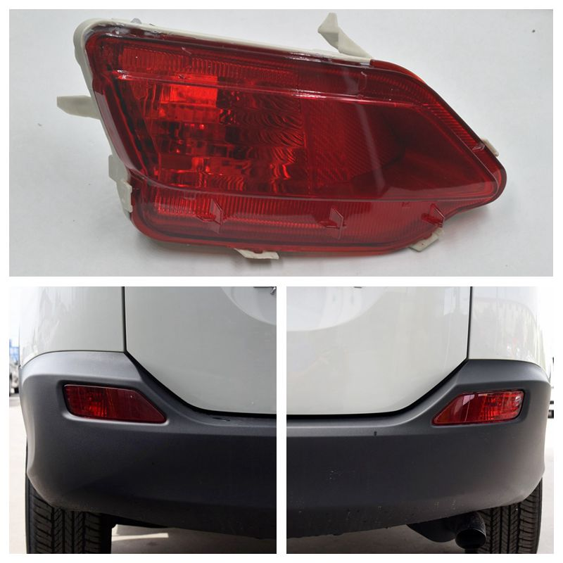 Cafoucs Car Rear Bumper Fog Light For Toyota RAV4 2013 2014 2015 Tail Lamp car rear trunk security shield shade cargo cover for toyota rav4 2014 2015 2016 2017 black beige