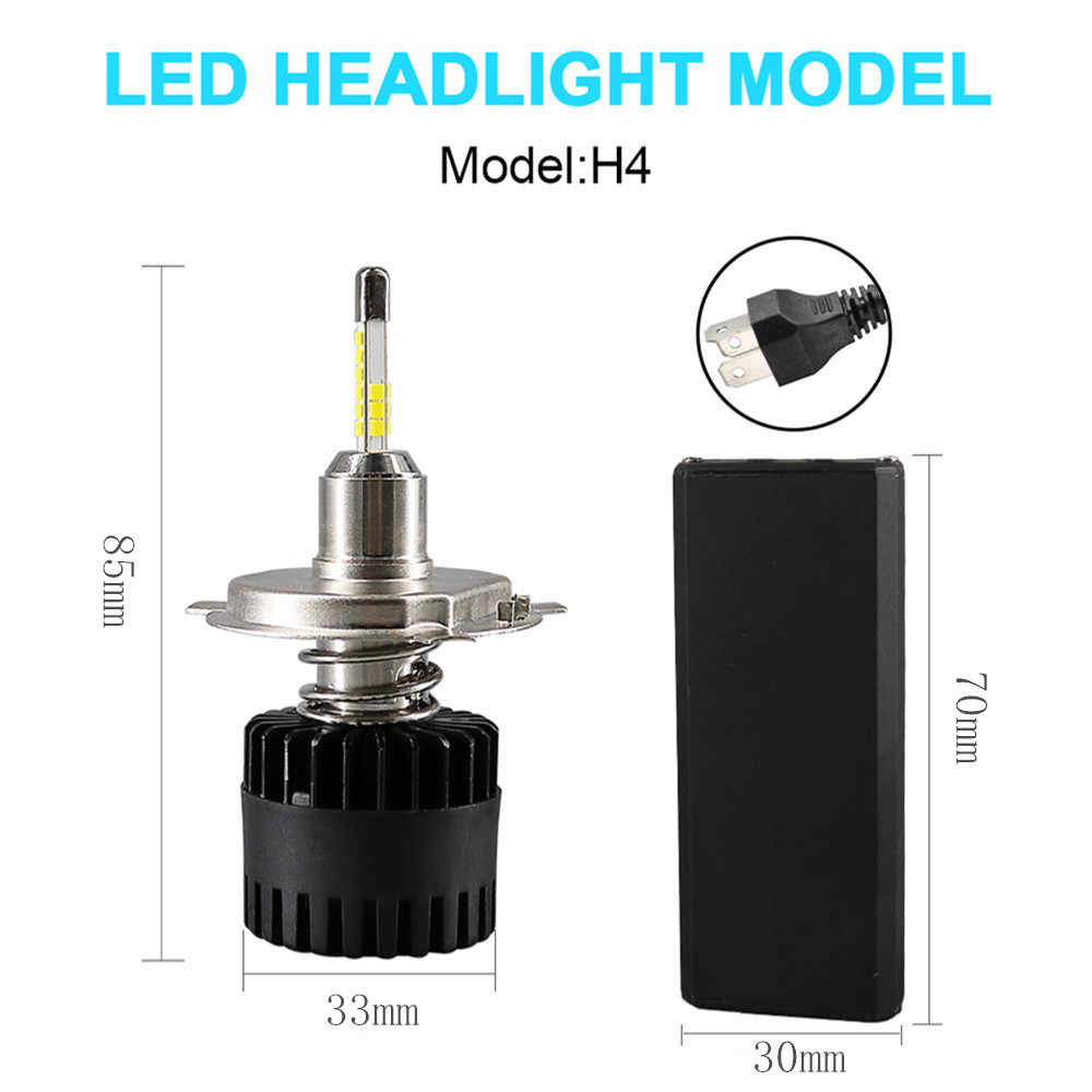Inlong 2Pcs H4 LED Headlight Bulbs  H11 H1 H7 9005 9006 SAM Chips  80W 10800LM 6500K Car Led Auto Headlamp Headlights Fog Lights
