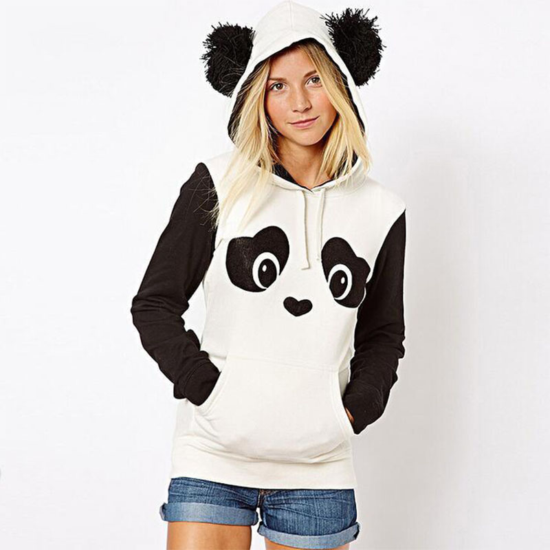 Cute Panda Hoodies Autumn Sweatshirt Women Pullover Female Lovely Panda Print Sweatshirts For Ladies Autumn Hoodies Pull Femme