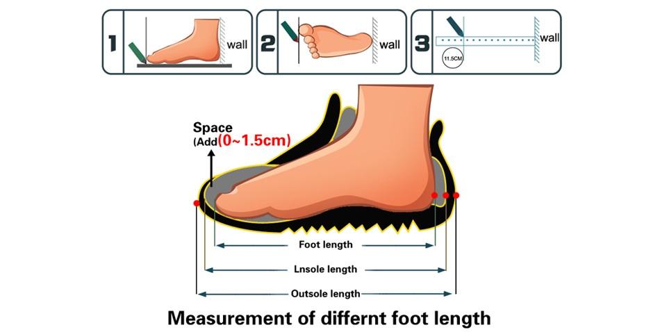 new foot length