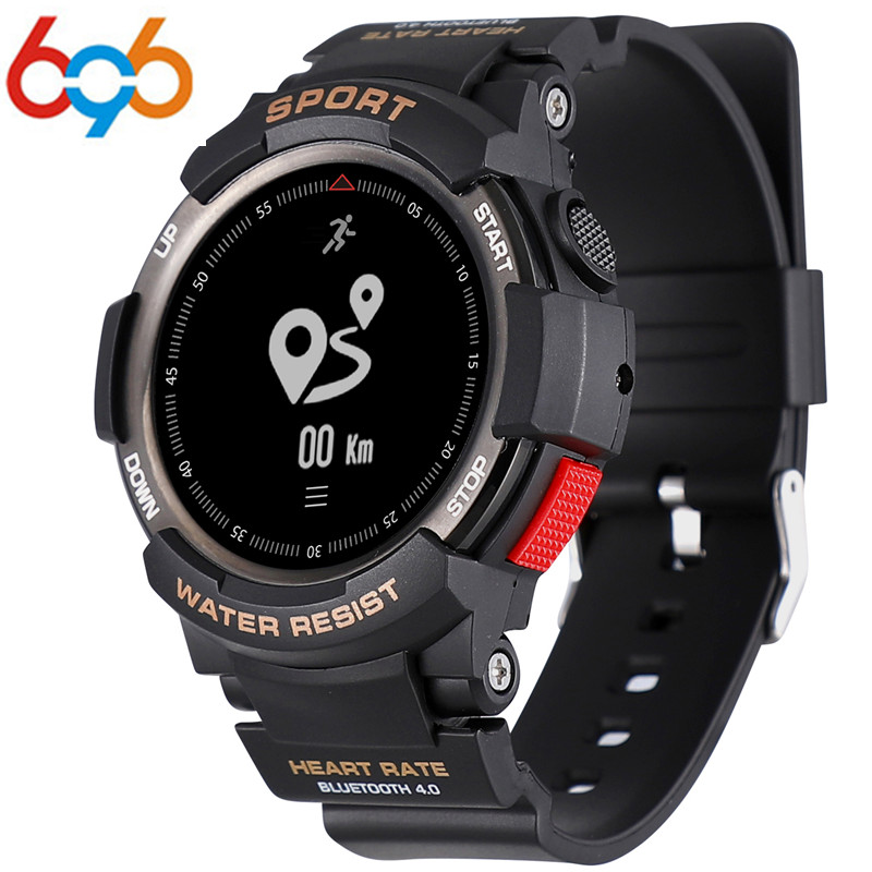 цена 696 No.1 F6 Smartwatch IP68 Waterproof Bluetooth 4.0 Dynamic Heart Rate Monitor Smart watch For Android Apple Smart Phone