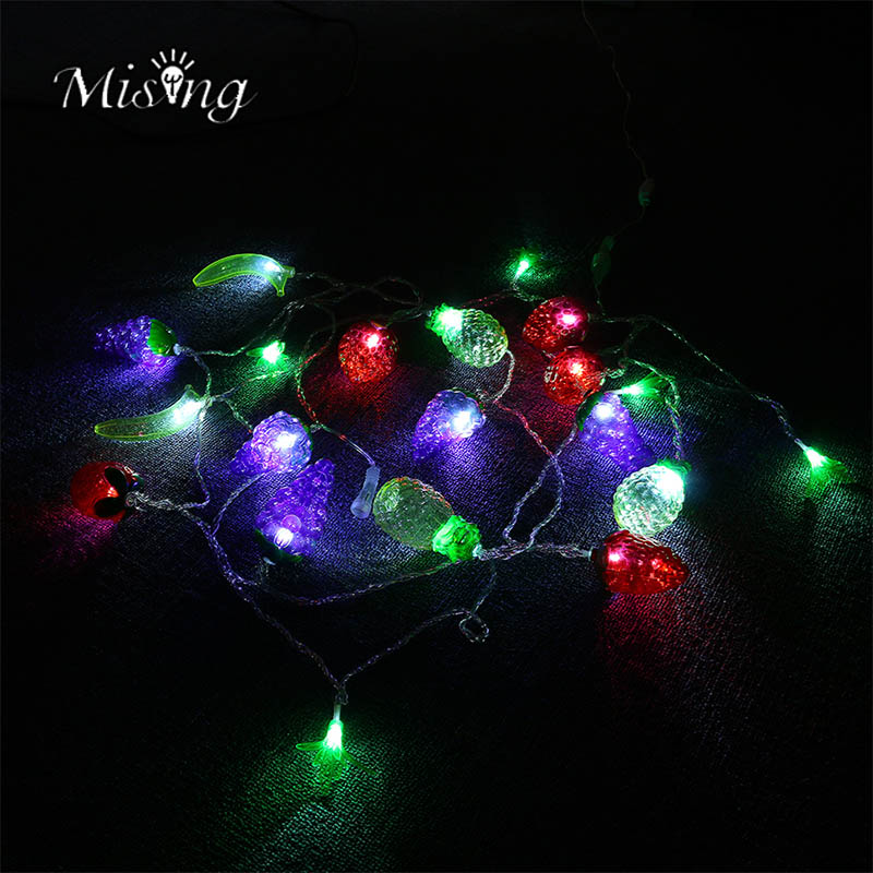 Mising 5M 20LED String Light Waterproof IP44 Colorful Fruit Fairy Lights Ourdoor Christmas Party Decoration Holiday Camping Lamp