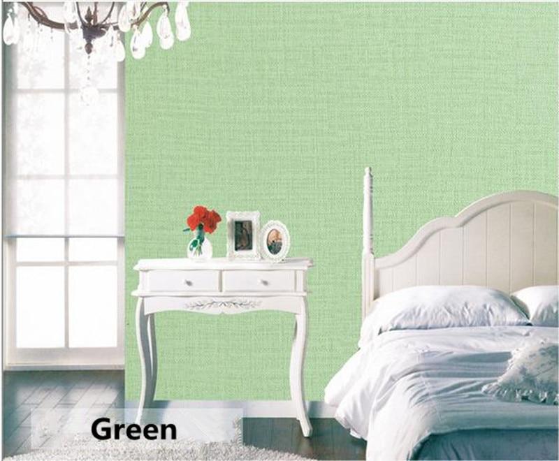 Купить с кэшбэком Wallpapers Youman 60cmX10m Modern Simple Linen Self-adhesive Solid Color Wall Paper Bedroom Dormitory Sticker Renovation Sticker
