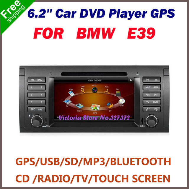 "Free Shipping 7"" Double Din Car DVD Player for BMW E39 with GPS, Steering Wheel Control, FM Transmitter,Mobile Phone,Radio Tuner"