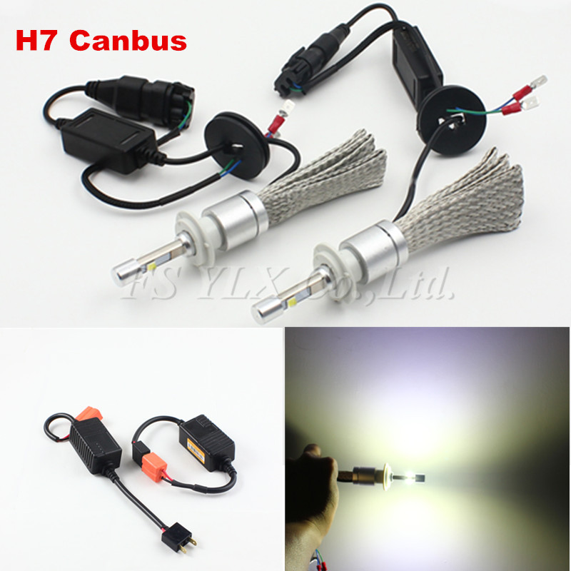 H7 Canbus 80W 9600LM H7 auto LED Headlight Kit 6000K Replace Halogen Xenon HID Headlamp led fog lights lamps headlight headlmap дефлектор auto h k gt 36964