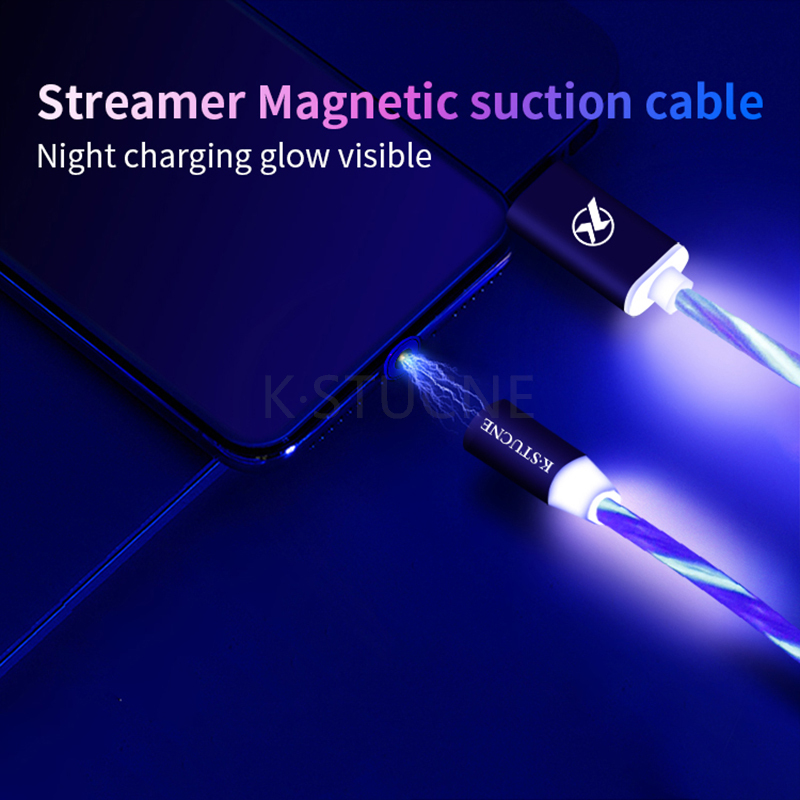 Magnetic Micro USB Cable LED Luminous Charging For Android Samsung Huawei Xiaomi Mobile Phone Cables 2A LED Magnet Charger Cord