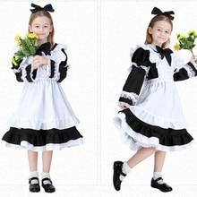 5 шт. Алиса в стране чудес Обувь для девочек Дети Лолита платье горничной Карнавальный костюм для Хэллоуина