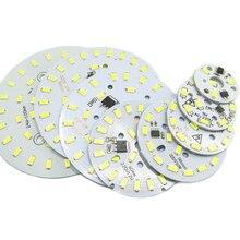 220 В SMD 5730 алюминиевый светодиодный pcb 2 Вт 3 Вт 5 Вт 6 Вт 7 Вт 10 Вт 12 Вт 15 Вт 18 Вт 24 Вт интегрированный Драйвер лампы пластина белый/теплый белый светодиодный светильник