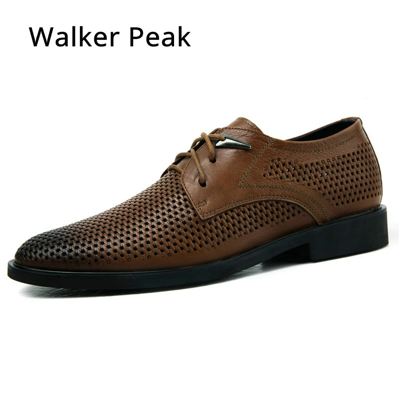 Size 37-46 High Quality Genuine Leather Man Business Casual Shoes Man Woven Breathable Hole Gentle man Shoes Brand Walker Peak 2016 new high quality genuine leather men business casual shoes men woven breathable hole gentleman shoes brand taima 40 45