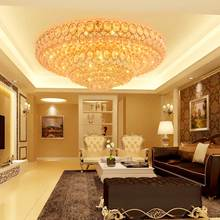 LED Modern Crystal Ceiling Lamps Round Golden Ceiling Lights Fixture Living Room Bed Room Home Indoor Lighting Changeable White modern minimalist golden led circular living room crystal lamp creative lamps atmospheric luxury hall ceiling lighting fixture
