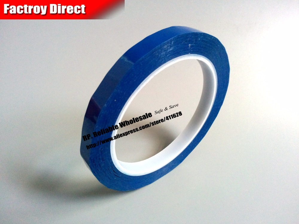 Size:50mm*66Meter, Single Face Adhered Insulating Mylar Tape for lithium-ion battery, Fireproof, Blue size 65mm 66meter single sided glued insulating mylar tape for transformers fasten blue