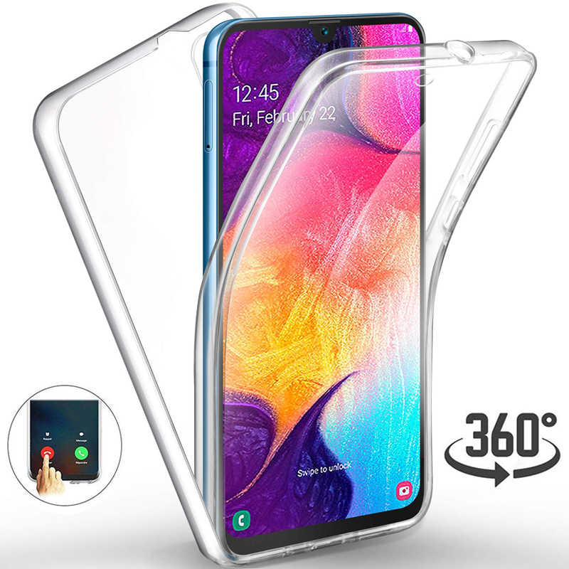 360 Double Silicon Case For Samsung Galaxy A10 A30 A50 A70 M10 M20 J4 J6 J8 A6 A7 A8 A9 2018 S10E S10 Plus Note 9 8 5 Cover Case