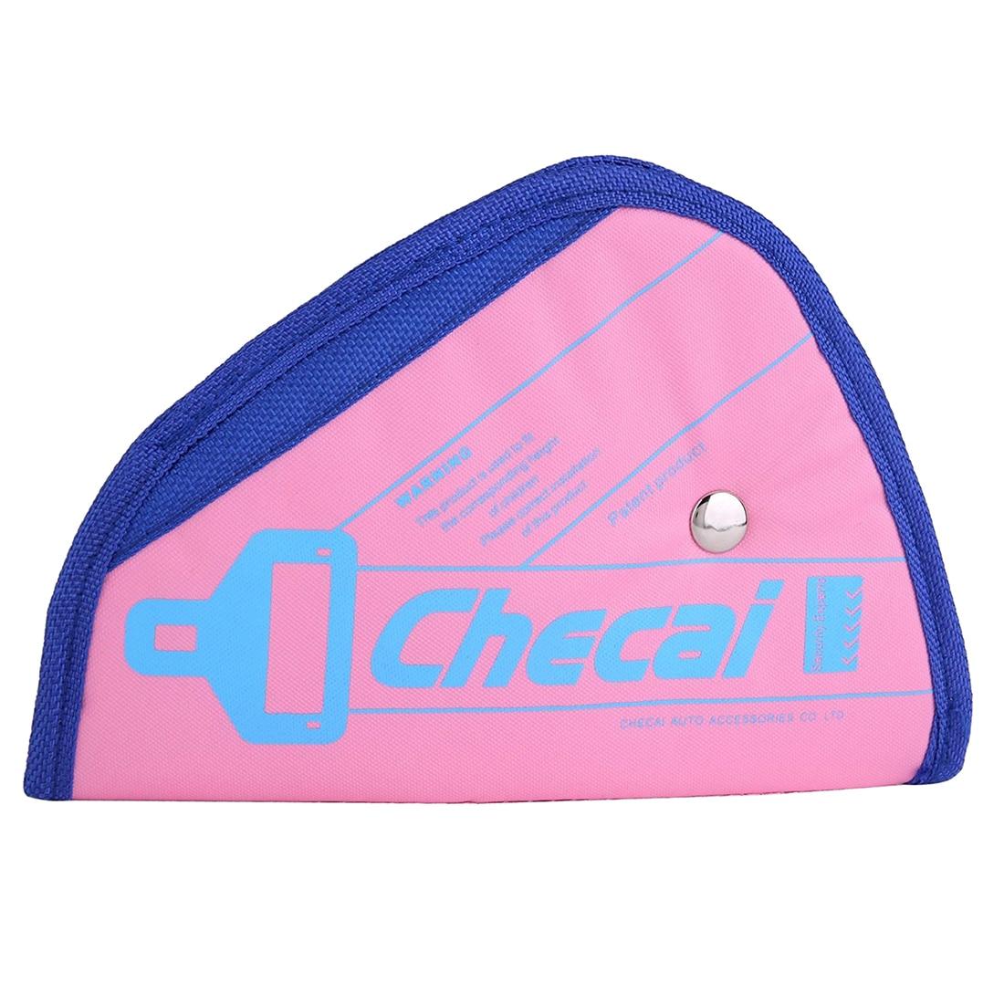 CHECAI Child Kids Baby Adjustment Auto Car Belt Adjuster Safety Seat Belt Positioner Pink