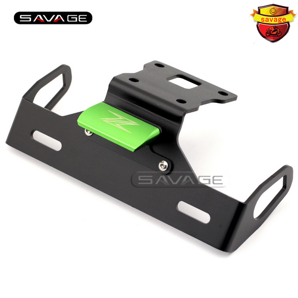 For KAWASAKI Z125 2015-2016 Green Motorcycle Tail Tidy Fender Eliminator Registration License Plate Holder Bracket LED Light motorcycle tail tidy fender eliminator registration license plate holder bracket led light for kawasaki er6f er 6f 2012 2014 13