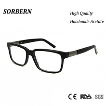049b9cd70b6 SORBERN Acetate Nerd Glasses Frame Men Women Modern Greek Eyeglasses Frames  High Quality lentes opticos mujer
