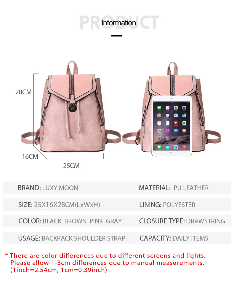 HTB1s 22bRCw3KVjSZR0q6zcUpXao Vintage Matte Leather Women Backpacks High Quality Multifunctional Shoulder Bag Female Girls Backpack Retro Schoolbag XA533H
