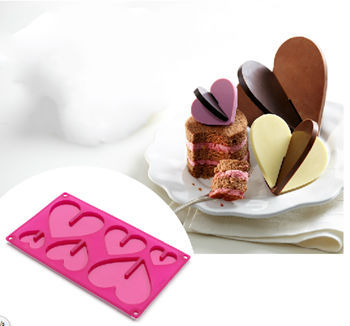 웨딩 먹고 장식 용품 하트 모양의 달콤한 사랑 실리콘 오븐용 접시 초콜릿 디자인 붙지 않는 금형 무료 배송