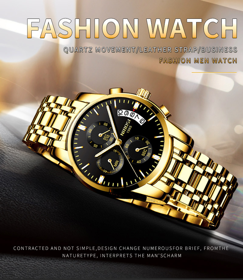 e7a82f084a93 NIBOSI reloj hombre 2018 hombres de negocios de lujo relojes de cuarzo  luminoso impermeable Deporte Militar reloj Relogio Masculino