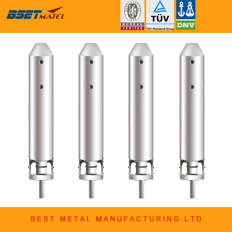 Mirror Polish 4 Pieces/Lot Duplex 2205 stainless steel glass pool fencing spigot for swimming pool balustrade handrail staires evolis avansia duplex expert smart