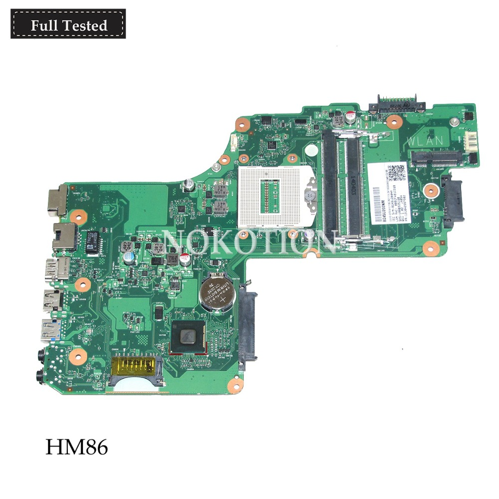 NOKOTION SPS V000325160 DB10S-6050A2557501-MB-A02 Main board For toshiba satellite C55 C55T laptop motherboard HM86 NOKOTION SPS V000325160 DB10S-6050A2557501-MB-A02 Main board For toshiba satellite C55 C55T laptop motherboard HM86