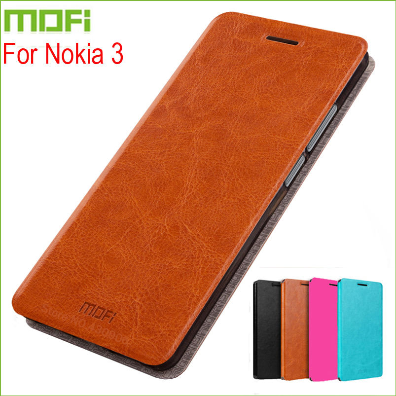 For Nokia 3 Case Cover MOFI Stand Hight Quality Flip Leather Phone 5.0 inch