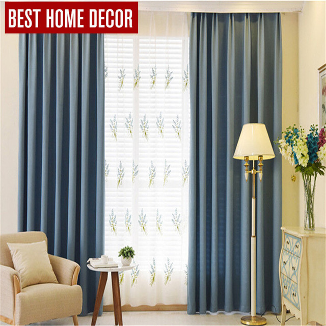 BHD Tailor Made Modern Cloth Blackout Curtains For Window Blinds 90%  Shading Blackout Curtains
