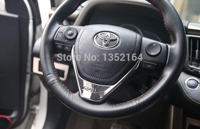Auto steering wheel cover,interior decoration trim for toyota RAV4 2013 2014, ABS chrome,auto accessories