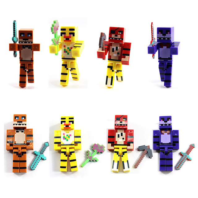 4PCS Set FNAF Golden Freddy Figure 7cm PVC Five Nights At Game Figma