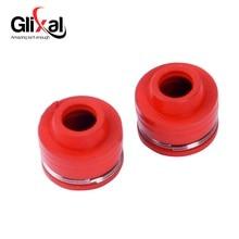 Glixal GY6 50cc 125cc 150cc клапан головки цилиндра сальник для 139QMB 152QMI 157QMJ Скутер ATV Мопед картинг UTV(2 шт