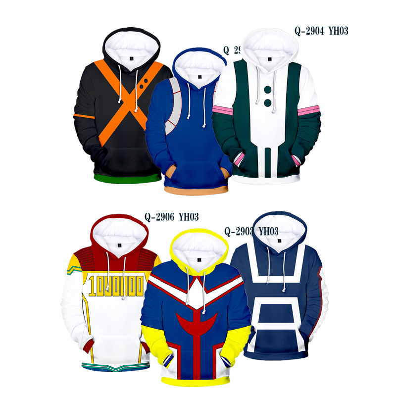 Anime Boku No My Hero Academia Cosplay Costumes Hoodies H Sweatshirts Bakugou Todoroki Shoto Spring Jacket Coat Jacket Hoodies